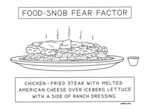 cartoon alex-gregory-food-snob-fear-factor-new-yorker-cartoon